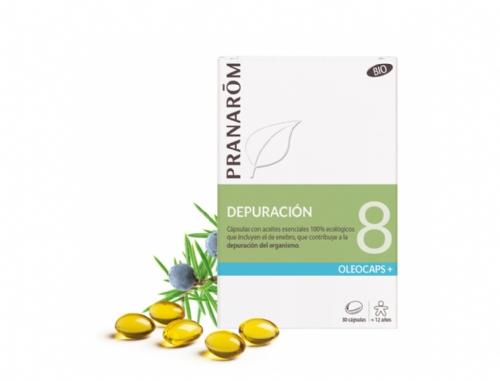 Pranarôm Oleocaps 8 Depurativos Bio 30 Cápsulas