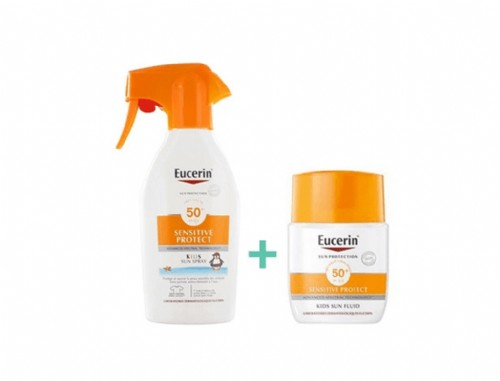 Eucerin Sun Protection 50 + Spray Infantil - Sensitive Protect (300 ml)