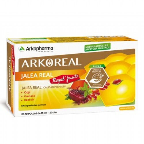 Arkoreal jalea real royal´fruits (20 ampollas)
