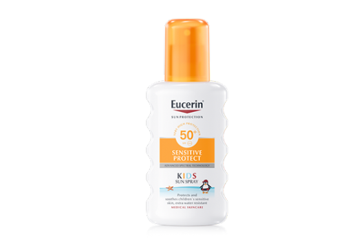Eucerin sun protection 50+ spray infantil - sensitive protect (200 ml)