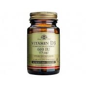 Solgar vitamina d3 600 ui 15 mg 60 capsulas