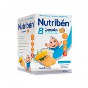 NUTRIBEN 8 CEREALES Y MIEL GALLETAS MARIA (600 G)