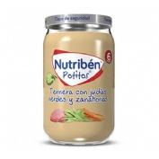 Nutriben ternera con judias verdes y zanahorias (1 potito 235 g)