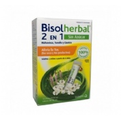 Bisolherbal 2 en 1 malvavisco, tomillo y llanten (12 sobres monodosis x 10 ml) sin azucar