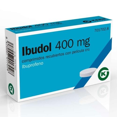 IBUDOL 400 MG COMPRIMIDOS RECUBIERTOS CON PELICULA EFG , 20 comprimidos
