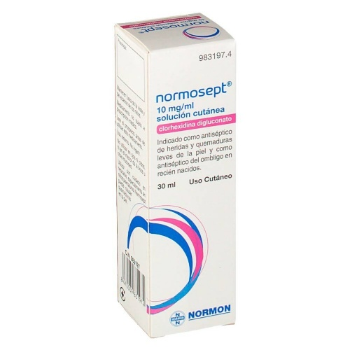 NORMOSEPT 10 mg/ ml SOLUCION CUTANEA , 1 frasco de 30 ml