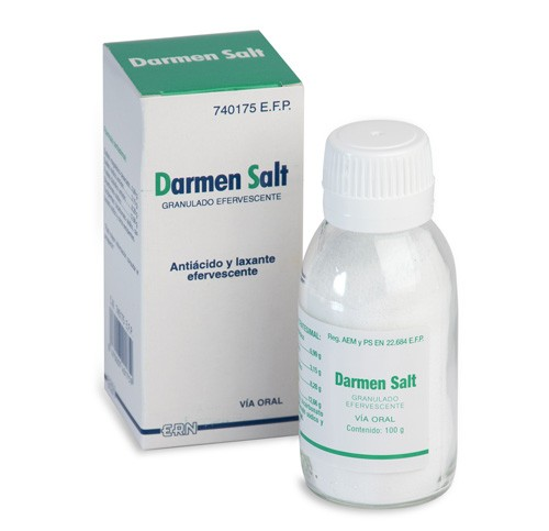 DARMEN SALT GRANULADO EFERVESCENTE, 1 frasco de 100 g