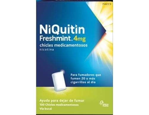 NIQUITIN FRESHMINT 4 MG CHICLES MEDICAMENTOSOS, 100 chicles (blister AL/PVC/PVDC)