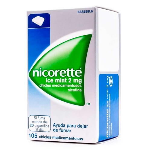 NICORETTE ICE MINT 2 mg CHICLES MEDICAMENTOSOS, 105 chicles