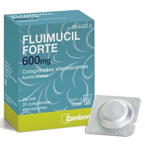 FLUIMUCIL FORTE 600 mg COMPRIMIDOS EFERVESCENTES , 20 comprimidos