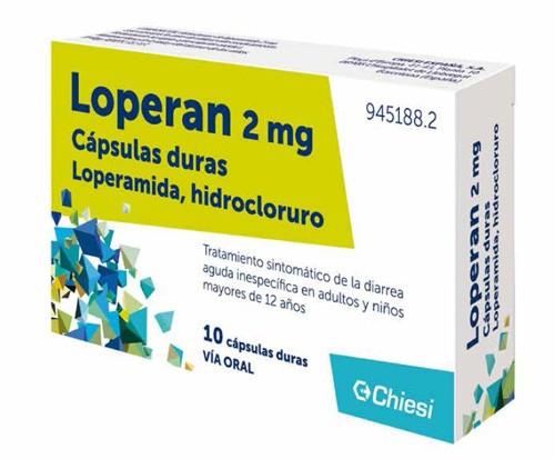 LOPERAN 2 mg CAPSULAS DURAS , 10 cápsulas