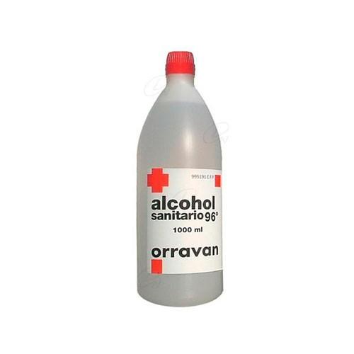 ALCOHOL 96º SANITARIO ORRAVAN SOLUCIÓN CUTÁNEA , 1 frasco de 1.000 ml