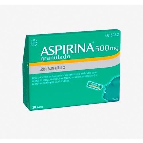 ASPIRINA 500 mg GRANULADO , 20 sobres