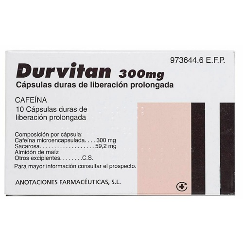 DURVITAN 300 mg CAPSULAS DURAS DE LIBERACION PROLONGADA, 10 cápsulas
