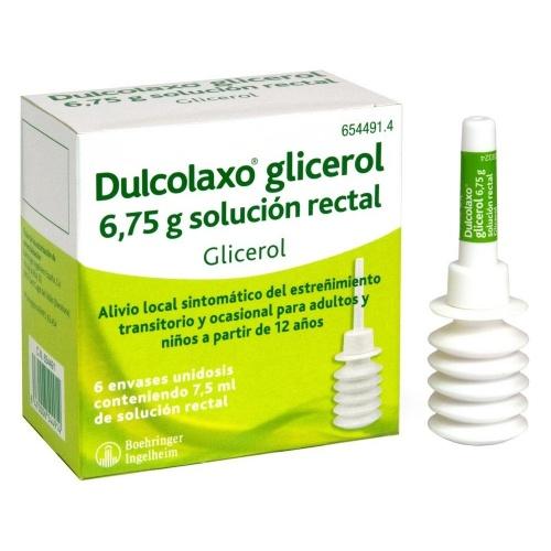 DULCOLAXO GLICEROL  6,75 g SOLUCION RECTAL, 6 enemas de 7,5 ml