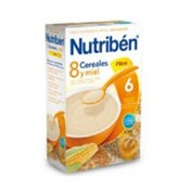 Nutriben 8 cereales y miel fibra (300 g)