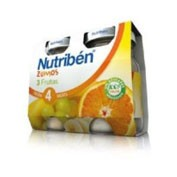 Nutriben zumo 3 frutas (130 ml 2 u bipack)