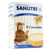 Sanutri papilla 8 cereales (600 g (300 g 2 bolsas))