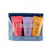 Control kit de viaje - 2 in 1 massaje & pleasure (gel 3 envases 50 ml)