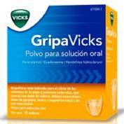 GRIPAVICKS  POLVO PARA SOLUCION ORAL , 10 sobres