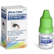 REACTINE LEVOCABASTINA 0,5mg/ml COLIRIO EN SUSPENSION , 1 frasco de 4 ml