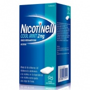 NICOTINELL COOL MINT 2 mg CHICLE MEDICAMENTOSO, 96 chicles
