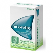NICORETTE 2 mg CHICLES MEDICAMENTOSOS, 105 chicles