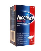 NICOTINELL FRUIT 4 mg CHICLE MEDICAMENTOSO , 96 chicles